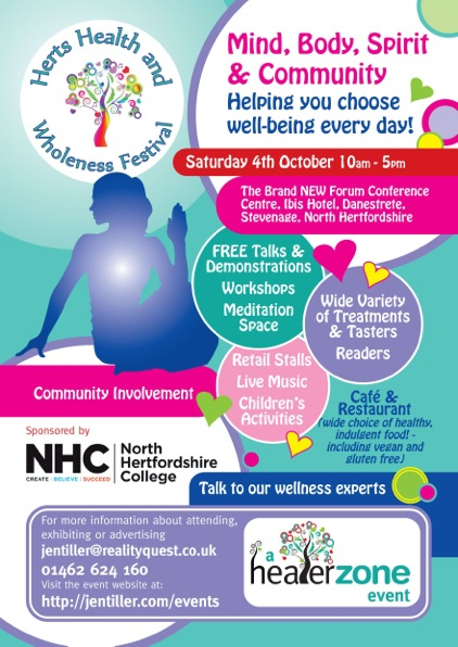 Herts Health and Wholeness Festival poster