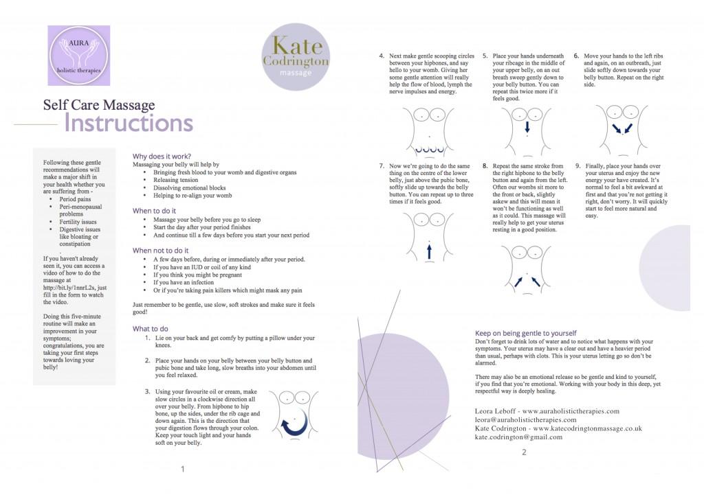 Instructions For Self Care Massage Kate Codrington